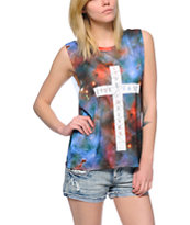 Empyre Mitzi Galaxy Cross Sublimated Muscle T-Shirt
