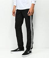 Empyre Recoil jeans negros con detalle de cuadros