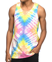 Empyre Runner Rainbow Tie Dye Tank Top