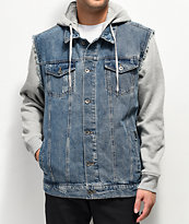 Empyre Sidecar Gray & Blue Denim Jacket