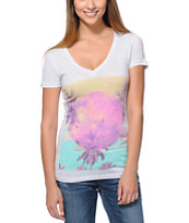 Empyre Sky's The Limit White V-Neck T-Shirt