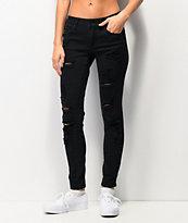 Empyre Tessa skinny jeans rotos en negro