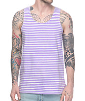 Empyre Tides Striped Purple Tank Top