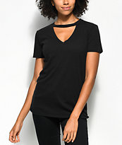 Empyre Topaz Black Choker Neck T-Shirt