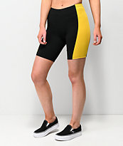 Empyre Trina Black & Yellow Bike Shorts