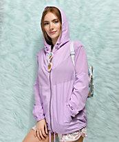 Empyre Zola Lavender Mesh Windbreaker Jacket