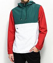 Empyre chaqueta anorak blanca, roja y verde