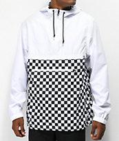 Empyre chaqueta anorak blanca transparente a cuadros