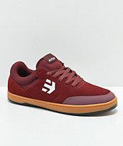 Etnies x Michelin Marana Burgundy & Gum Skate Shoes