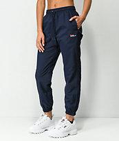 FILA Diana pantalones de chándal azul marino con cremalleras tobilleras