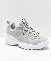 FILA Disruptor II Premium Suede Grey Shoes  fb2c35ac5617