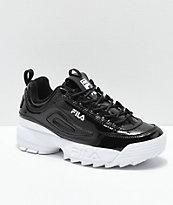 FILA Disruptor II Premium zapatos de charol negro