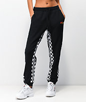 FILA Dita Black High Waist Jogger Sweatpants