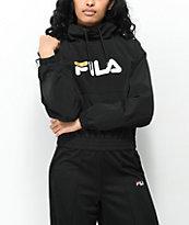 FILA Elsie Black Funnel Neck Jacket