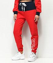 FILA Mara pantalones joggers rojos y azules