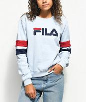 FILA Newton Light Blue Crew Neck Sweatshirt