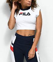 FILA Pia White Crop T-Shirt