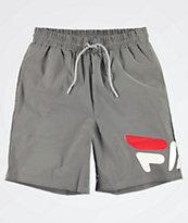 FILA Toby Logo Silver Shorts