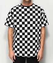 Fairplay Latore camiseta de cuadros negros y blancos