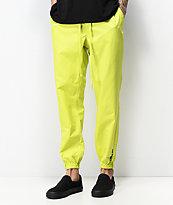 Fairplay Rak pantalones de color verde neón