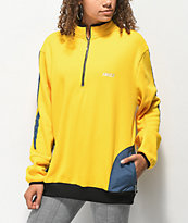 Favelo Yellow & Blue Quarter Zip Sweatshirt
