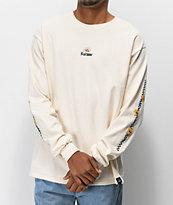 Fortune Checkered Lily camiseta blanca de manga larga
