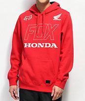 Fox x Honda sudadera con capucha roja