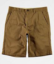 Free World Discord Dark Khaki Chino Shorts