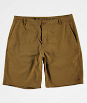 Free World Glassy Tobacco Stretch Hybrid Board Shorts