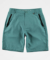 Free World Maverick Teal Tech Hybrid Shorts