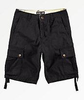 Free World Wreckage Black Cargo Shorts