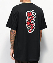 Girl x Hello Kitty 45th Anniversary Push Black T-Shirt