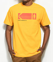 Girl x Kodak Heritage camiseta en color amarillo