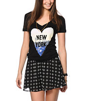 Glamour Kills Never Leave NYC V-Neck T-Shirt