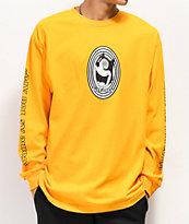 Gnarly Spiral camiseta dorada de manga larga