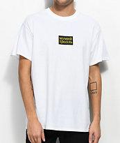 Gosha x Mumiy Troll Script camiseta blanca