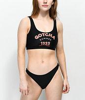 Gotcha Salty Black High Cut Cheeky Bikini Bottom