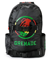 Grenade Black & Rasta Logo Backpack