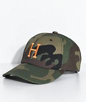 HUF Ambush Camo Strapback Hat