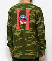 HUF Classic H Lips Camo Long Sleeve T-Shirt