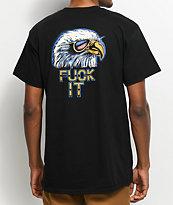 HUF Fuck It Eagle Black T-Shirt