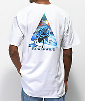 HUF Ice Rose Triangle camiseta blanca