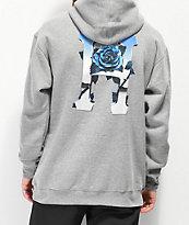 HUF Ice Rose sudadera con capucha gris