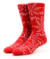 HUF Nordic Red Crew Socks