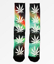 HUF Plantlife All The Lights calcetines verdes