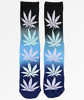 HUF Plantlife calcetines negros y azules con gradiente