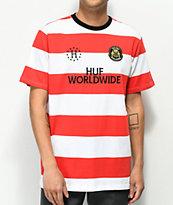 HUF Playmaker camiseta roja y blanca de rayas