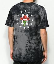 HUF Stoned Roses Black Tie Dye T-Shirt