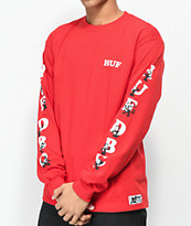 HUF X Felix the Cat DBC Red Long Sleeve T-Shirt