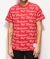 HUF x Budweiser All Over Red Woven T-Shirt